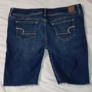 American Eagle Outfitters Shorts - American Eagle Slim Boot Cut-Off Jean Shorts 14